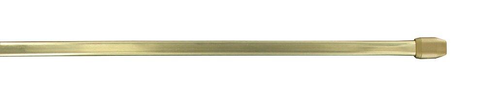 Tringle vitrage extensible 60-100cm plat doré