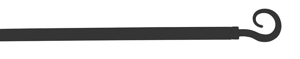 Tringle vitrage extensible 40-70cm embout crosse D10 Noir