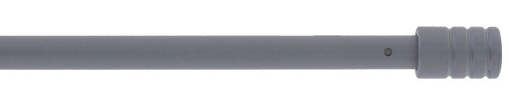 Tringle vitrage extensible 40-70cm embout cylindre D10 gris