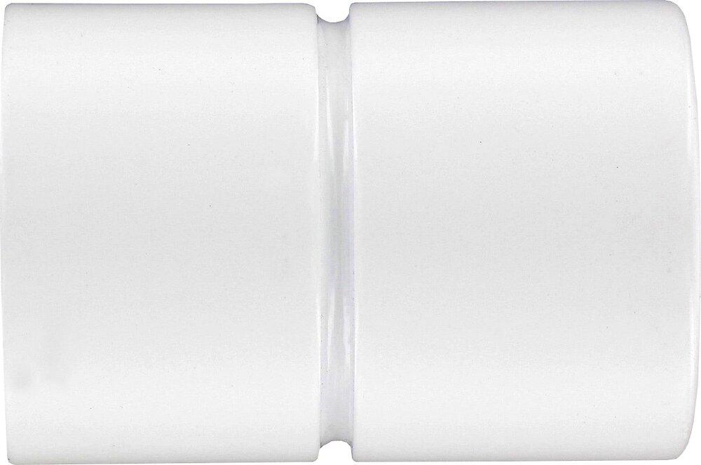 2 Embouts pour Tringle à pression cylindre blanc