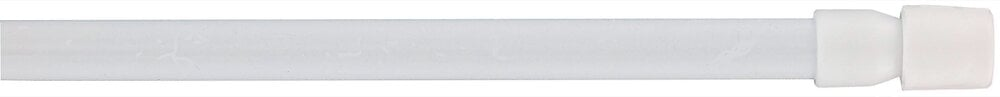 1 Tringle vitrage autobloquante extensible 40-70cm blanc