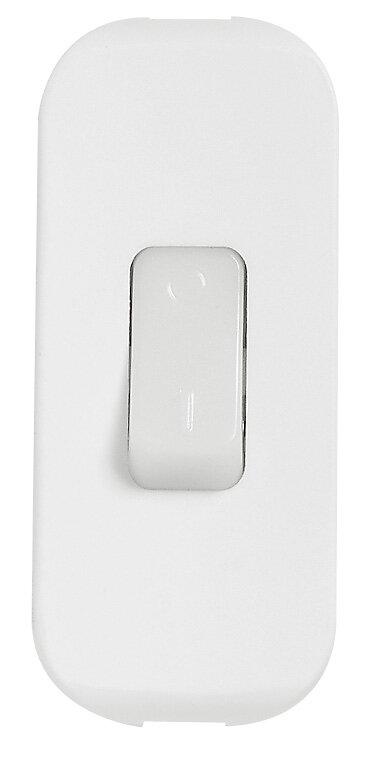 Interrupteur à bascule à touche luminescente blanc