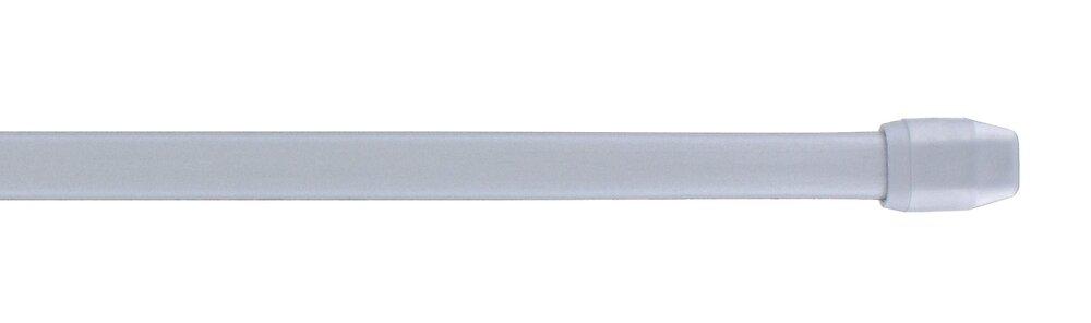 Tringle vitrage extensible 50-80cm plat argent