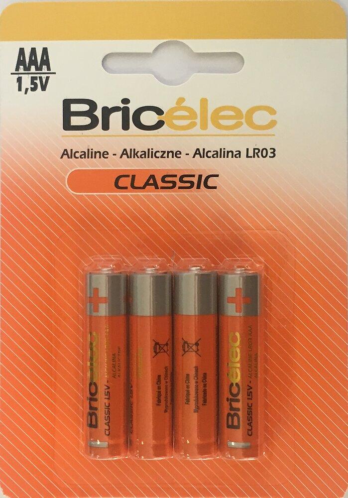 Piles alcalines lr03 x4 BRICELEC