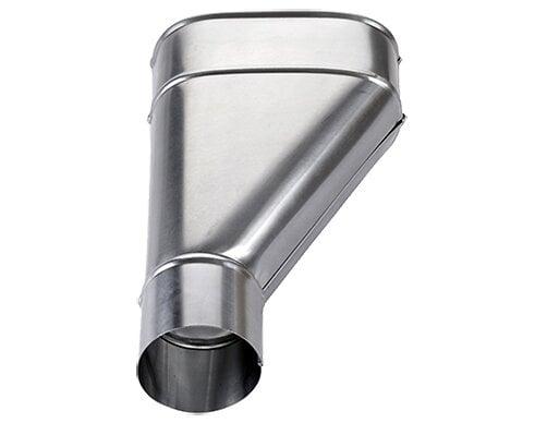 Cuvette de branchement 'dit jambon' zinc diamètre 80mm