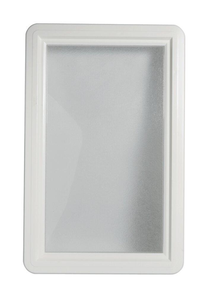 Hublot rectangulaire PVC Blanc pour porte de garage