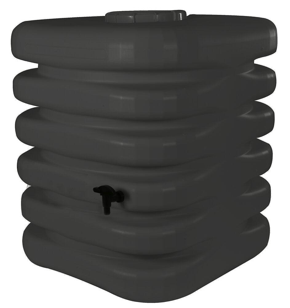 Récupérateur à eau Cubique 1000L anthracite avec kit