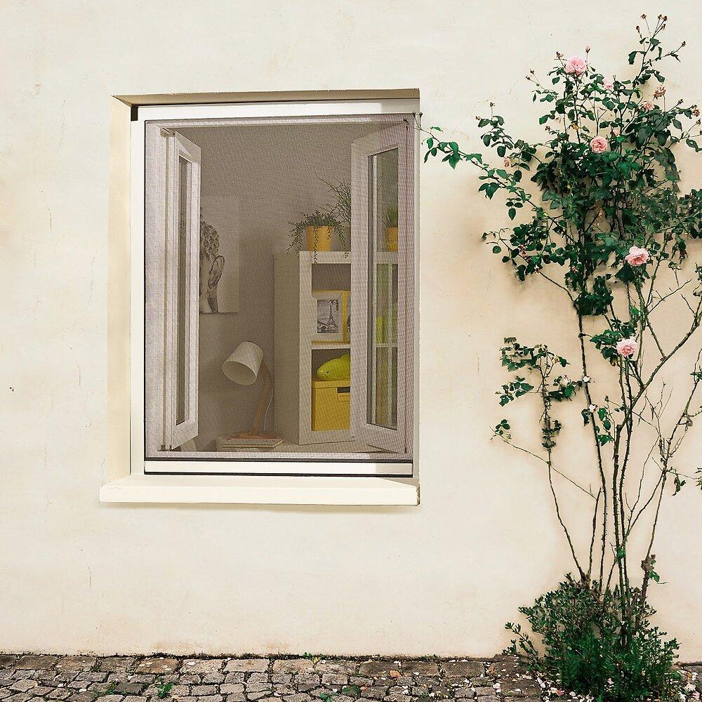 Moustiquaire enroulable recoupable alu Blanc 160x130cm