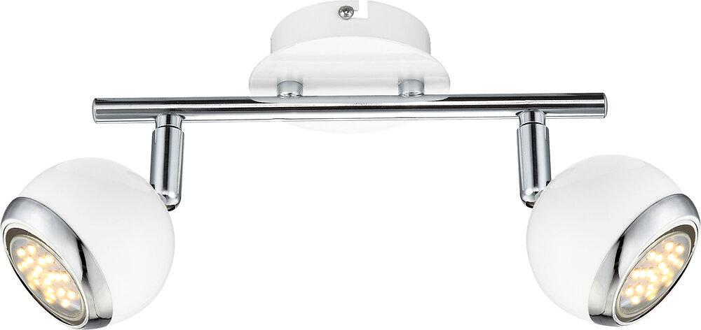 Spot Oman en métal blanc anneau chromé L.25xl.10xh.15cm