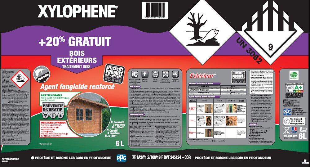 Traitement bois extérieurs Pot 6l expertise 60 ans