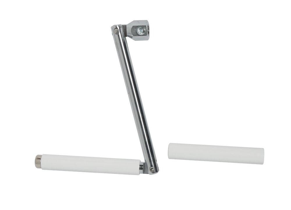 Manivelle pour tringle hex 10mm métal Chrome