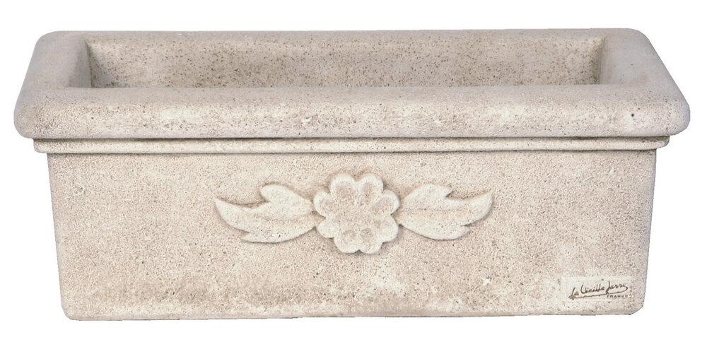 Balconnière Marguerite, ton pierre vieillie - 80 x 22 x 19