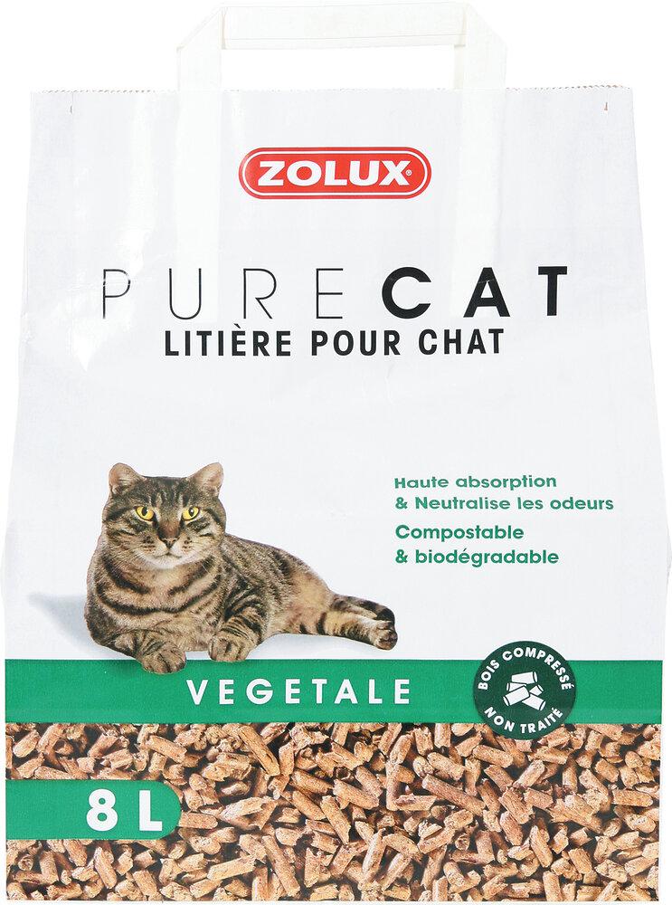 Litiére Purecat végétale naturelle 8l
