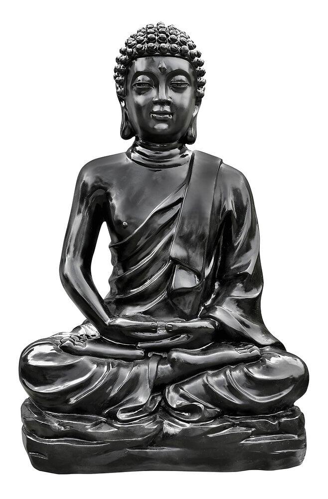 Bouddha Kadampa en béton ciré noir