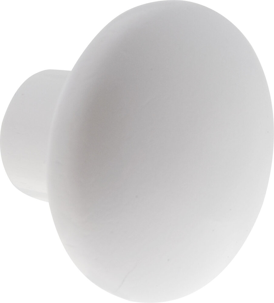 Patère 1 tête à fixer Soda blanc D.7.5 X 6cm