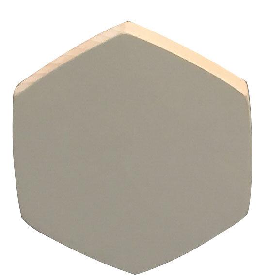 Patère 1 tête à fixer Exa gris clair D.8cm