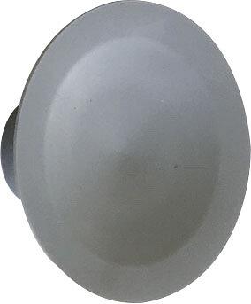 Patère 1 tête à fixer Latex grise D.10cm