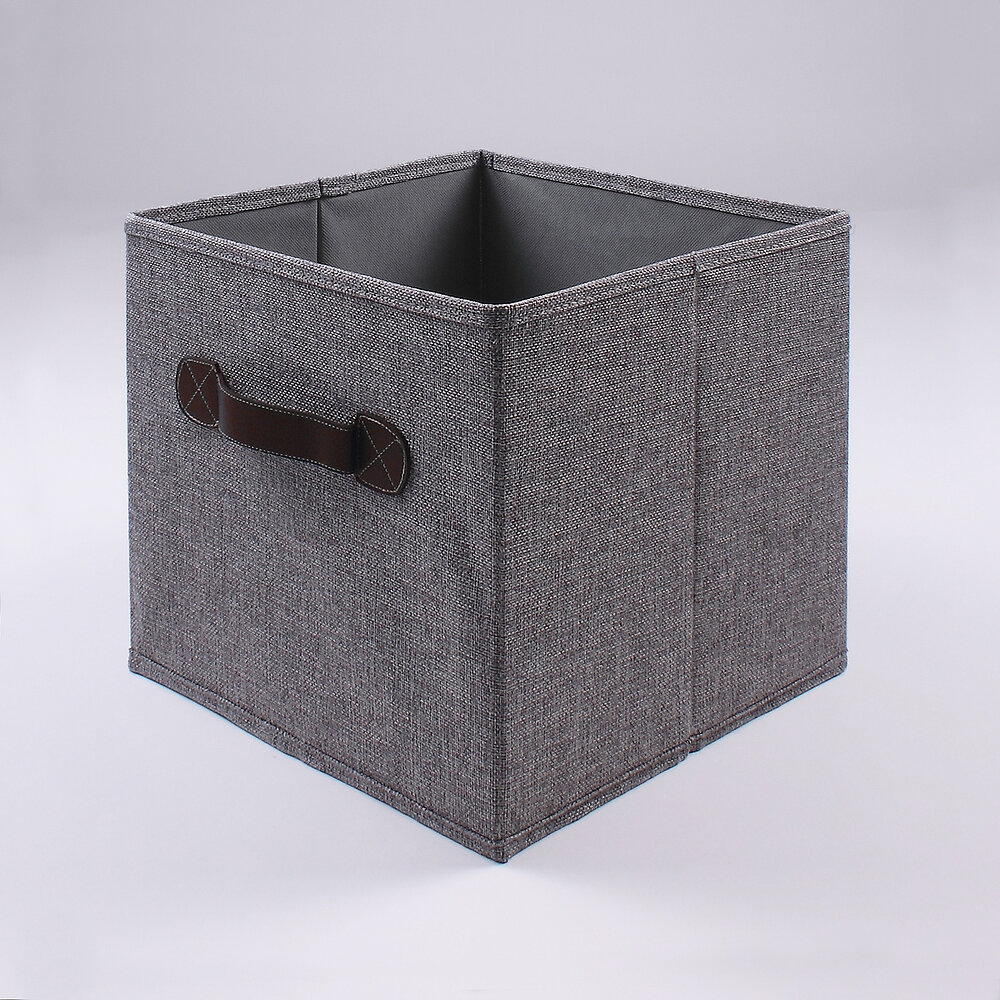 Cube pliable aspect lin gris