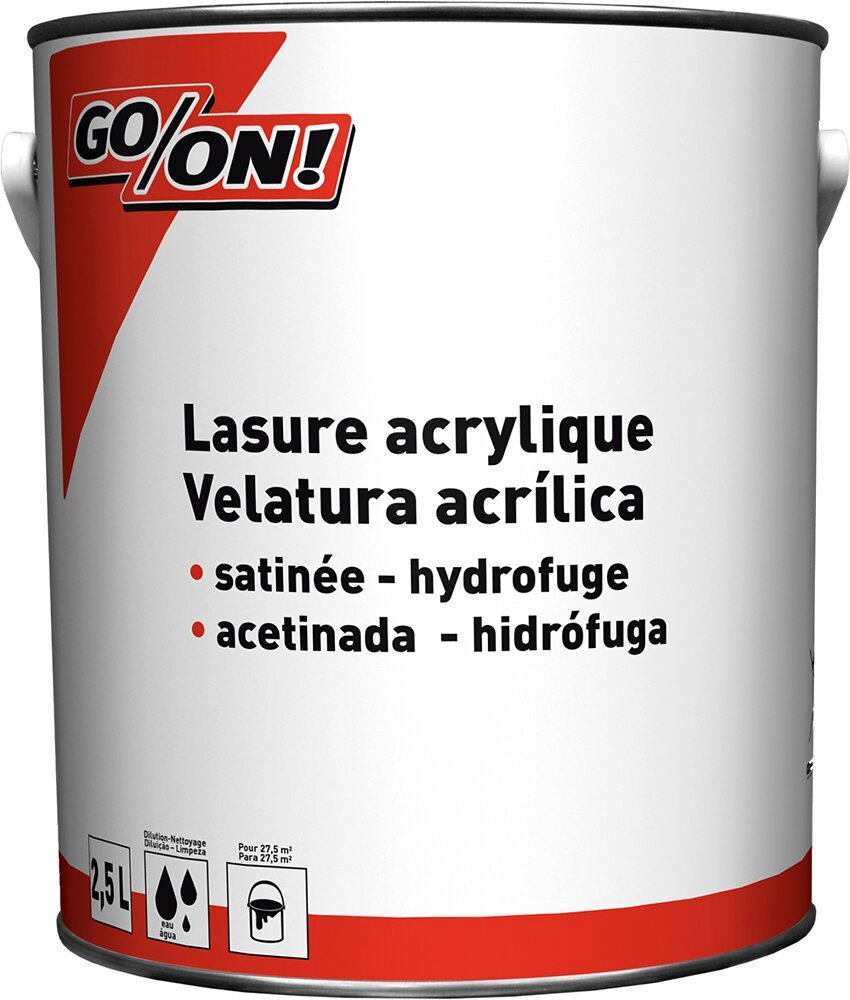 Lasure acrylique chêne moyen satin 2.5L