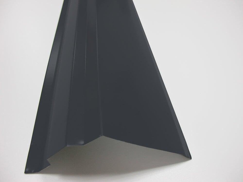 Rive anthracite pour panneau tuiles acier 120cm