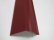 Rive brun-rouge pour panneau tuiles acier 120cm