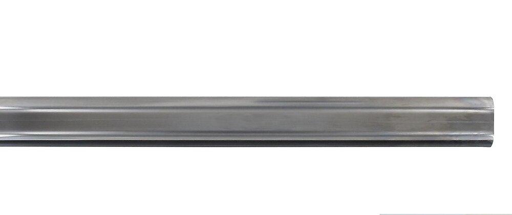 Penderie barre ovale 22x15mm longueur 200cm chrome