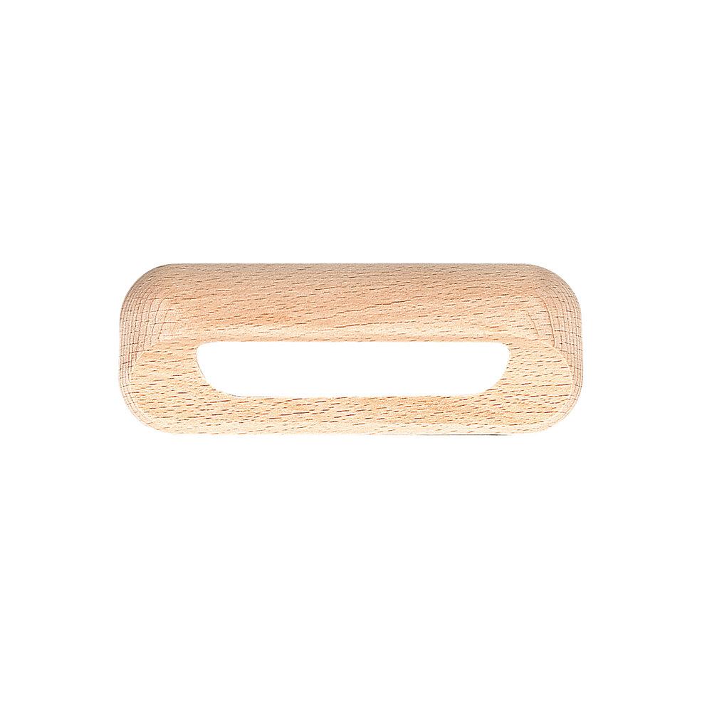 Poignée évidée entraxe 96mm hêtre bois brut