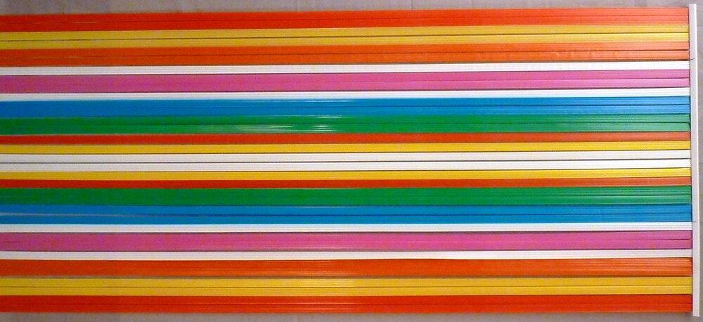 Rideau de porte lanières Antilles multicolore