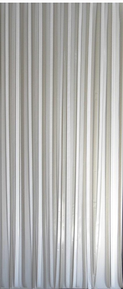 Rideau de porte lanières Antilles gris/blanc