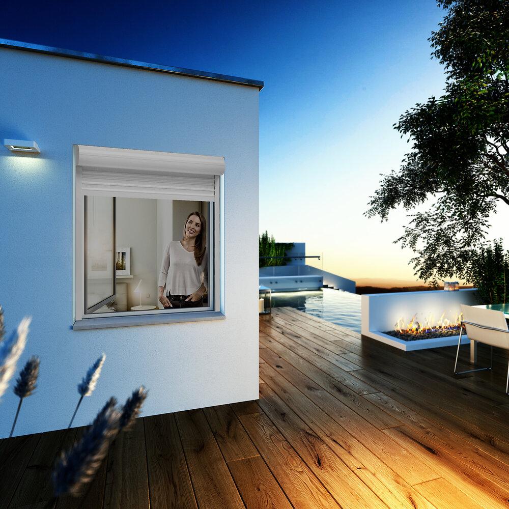 Kit cadre fenêtre FLAT blanc120x150cm