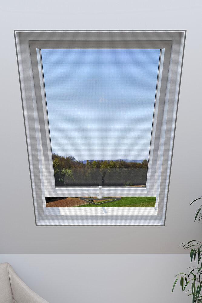Moustiquaire fenêtre de toit anthracite 130x150cm