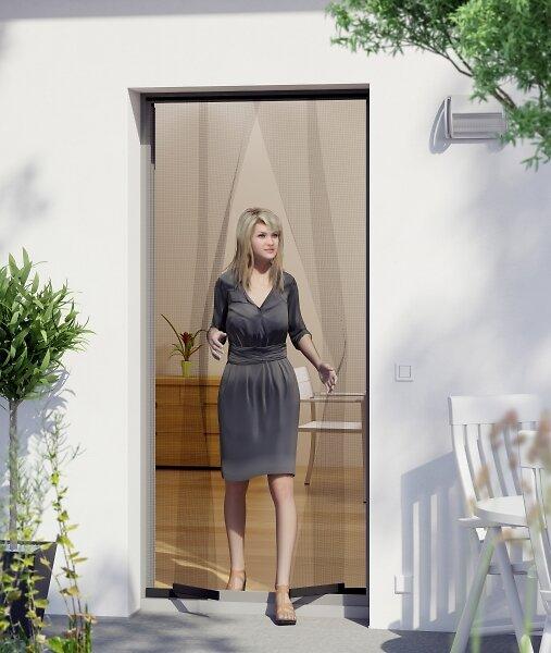 Rideau de porte basic anthracite 100x220cm