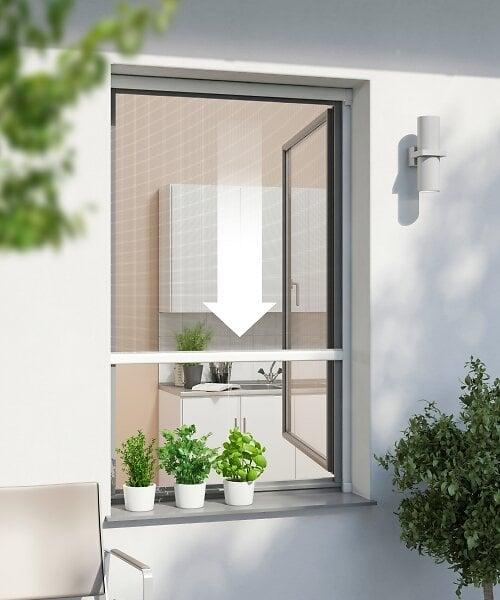 Enrouleur fenêtre ALU anthracite 160x160cm