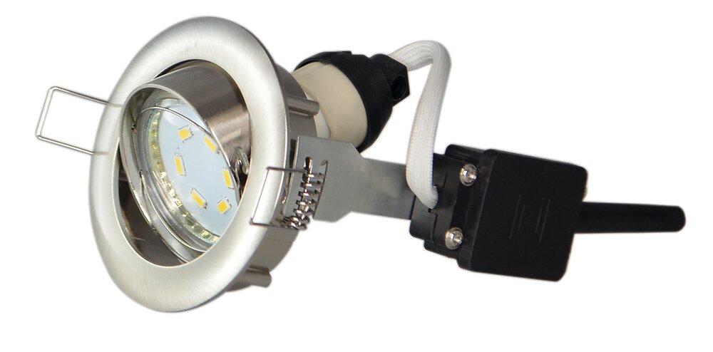 Spot encastré orientable acier brossé LED 3W 230V