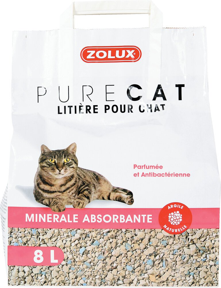Litiére Purecat absorbante parfumée 8l