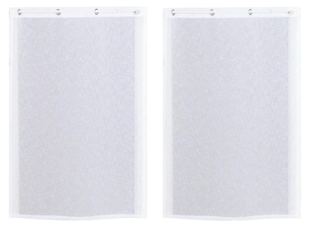 Rideau prêt à poser Blanc 60x120cm