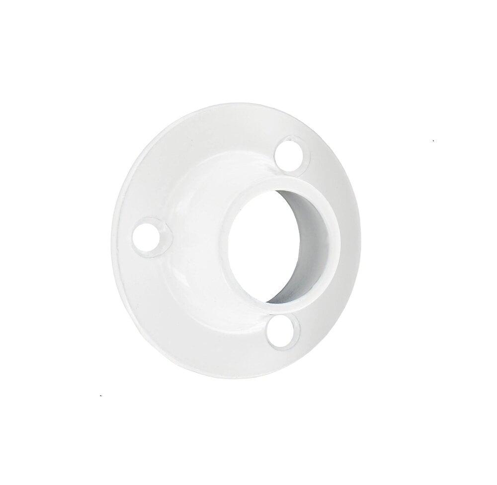 Penderie 2 supports pose entre murs pour barre D16 blanc