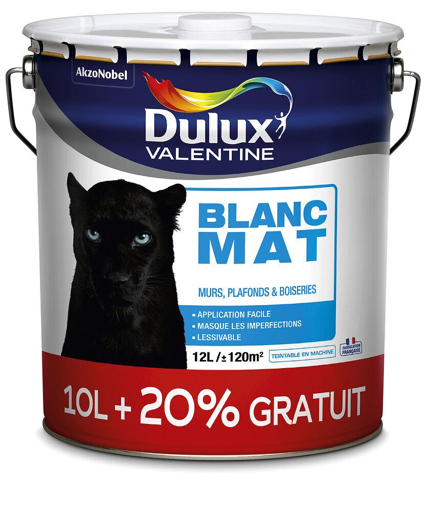 Peinture Phase aqueuse MAT Blanc 10l +20% gratuit