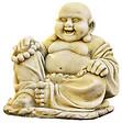 Bouddha rieur, ton vieilli, 35x35x33cm