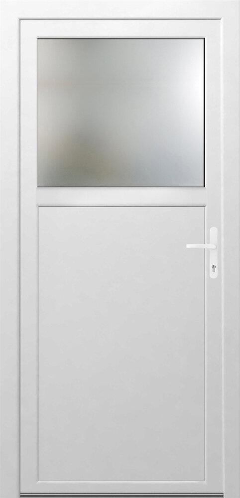 Porte de Service PVC 1/3 vitrée Poussant droite