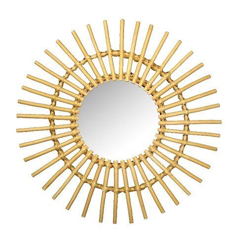 Miroir soleil en bambou 58cm