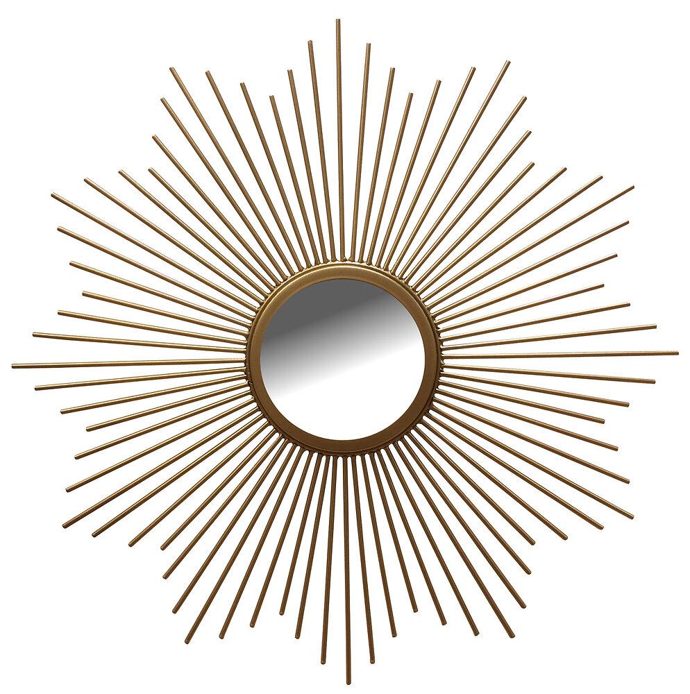 Miroir filaire or diamètre 40cm