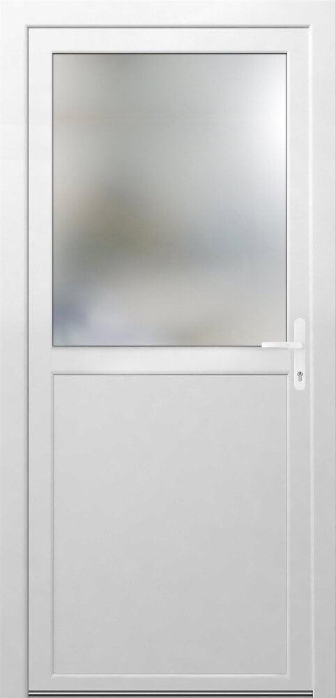 Porte de Service PVC 1/2 vitrée Poussant gauche