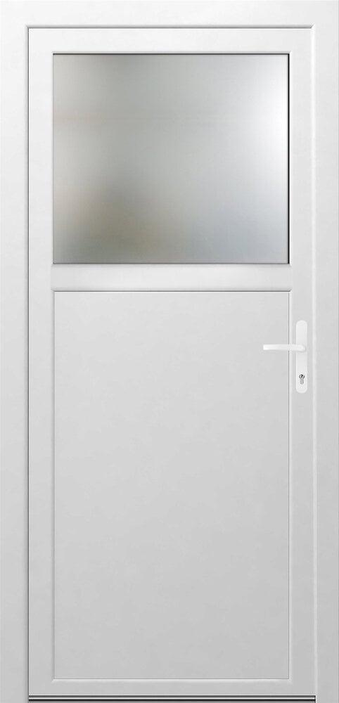 Porte de Service PVC 1/3 vitrée Poussant gauche