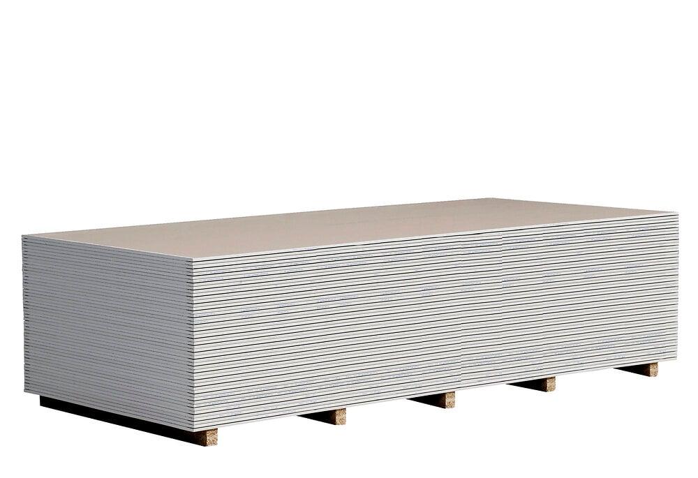 Plaque de plâtre standard BA13 NF 2.5x1.2m, épaisseur 13mm