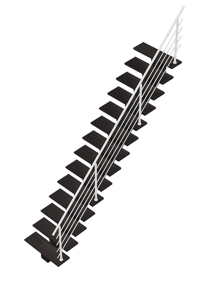 Escalier droit Gomera avec marches lisses Valch