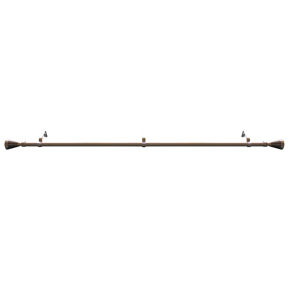 Kit tringle cone rainuré D16/19mm 120/210cm