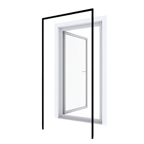 Huisserie porte battante anthracite 125x245cm