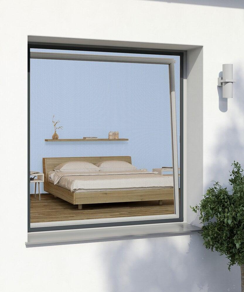 Kit cadre fenêtre alu blanc 100x120cm