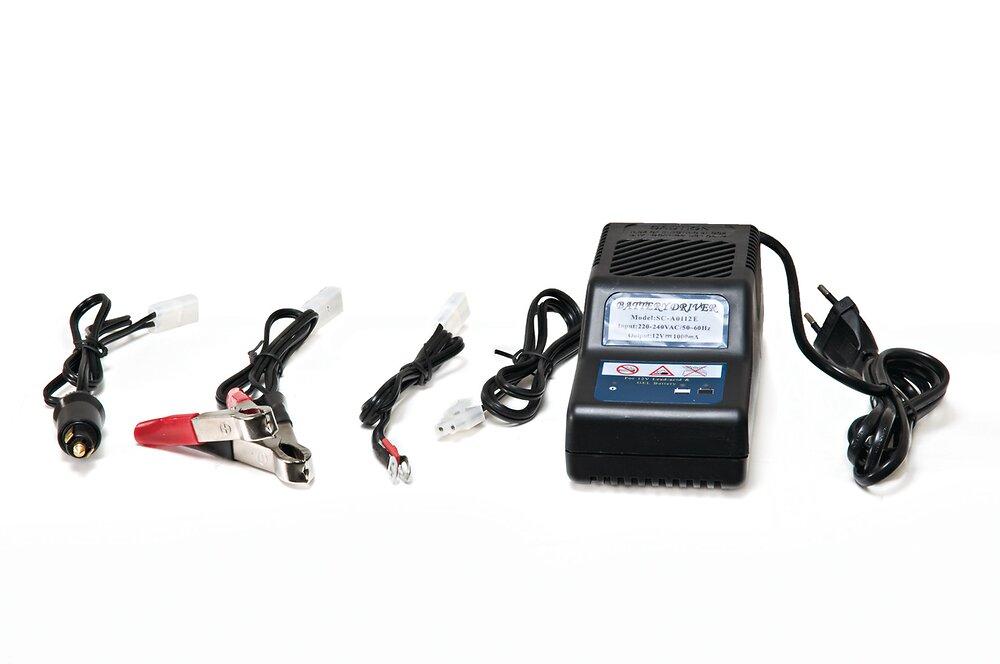 Chargeur de batterie pour autoportées